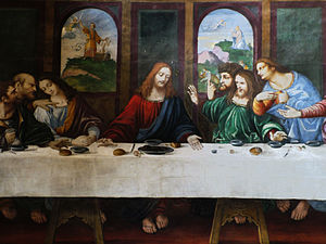 Ponte Capriasca - Detail of the Last Supper by Cesare da Sesto in the Church of S. Ambrogio