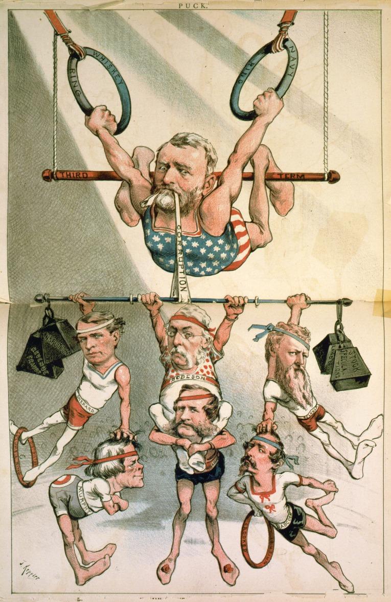 Ulysses S. Grant Trapeze Cartoon Keppler Puck 1880