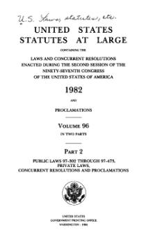 United States Statutes at Large Volume 96 Part 2.djvu