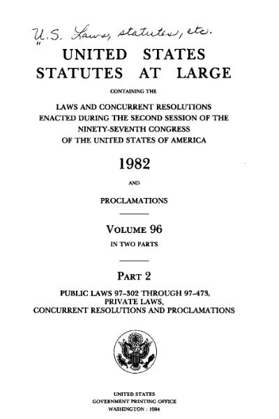File:United States Statutes at Large Volume 96 Part 2.djvu