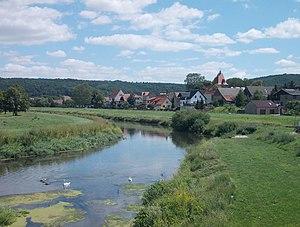 Memleben Abbey - Unstrut riverbank