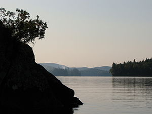Upper Saranac Lake - Looking south near Eagle Island