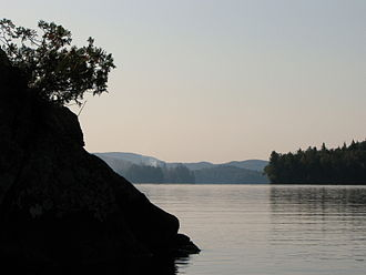 Upper Saranac Lake - Looking south near Eagle Island