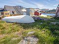 Upturned boat in town Kulusuk, Greenland - panoramio.jpg