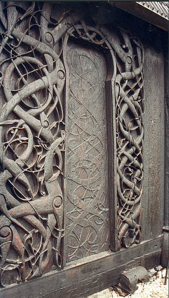 Runestone styles - The runestone styles were part of the general evolution of art in Scandinavia. This is a part of the decoration of the Urnes stave church which is in the same as the later runestone styles.