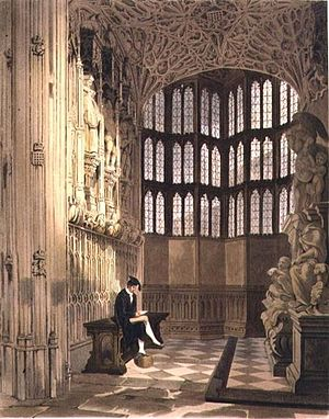 Thomas Uwins - The Henry VII chapel (1812 engraving)