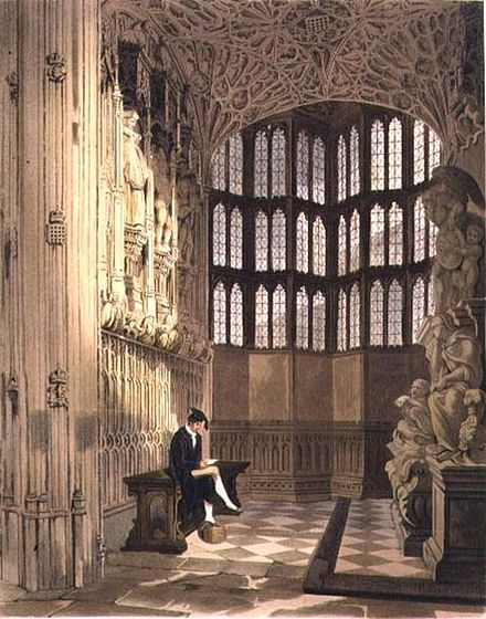 The Henry VII chapel (1812 engraving) Uwins - Henry the Seventh chapel.jpg