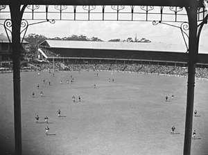 Association football at the 1956 Summer Olympics - Image: VFL Grand Final in 1945 at the MCG