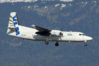 VLM Airlines - VLM Fokker 50 in the last livery of the original airline
