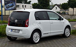 VW white up! 1.0 – Heckansicht, 28. Juli 2012, Velbert.jpg