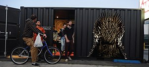 Pop-up retail - HBO Game of Thrones container pop-up in Los Angeles