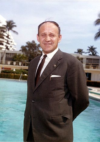 Väinö Linna - Väinö Linna in Palm Beach, Florida, on a trip in the United States, in  March 1963.