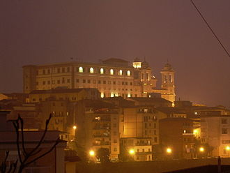 Valmontone - Image: Valmontone by night