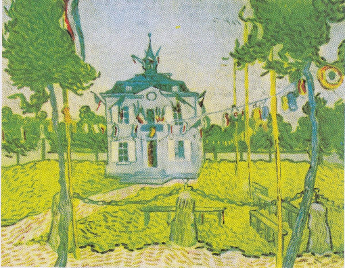 The town hall at auvers wikipedia for Van gogh paintings locations
