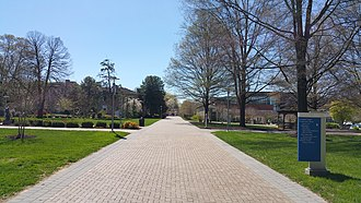 Goucher College - A view down Van Meter Road