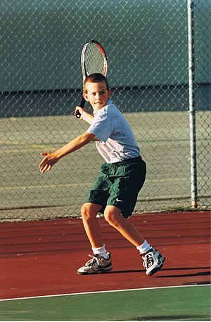Vasek Pospisil - A young Vasek Pospisil trains on his home court in Vernon, BC.