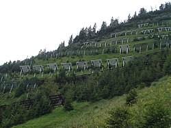 Snow fences in Switzerland
