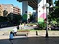 Very popular park under freeway overpass (18624514829).jpg
