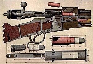 Vetterli rifle - Cutaway diagram of the Vetterli rifle's action.