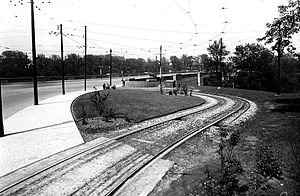 Castle Frank station - Viaduct Loop in 1926 was a terminus for streetcars