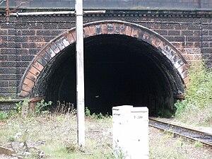 Victoria Tunnel (Liverpool) - The Grade II listed Victoria Tunnel Portal at Edge Hill Station