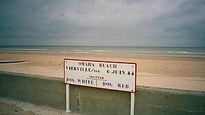 Vierville-sur-Mer - Image: Vierville Sign