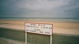 Vierville-sur-Mer - Dog White and Dog Red sectors on Omaha Beach