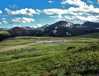 Independence Pass (Colorado) - View across pass from slopes of unnamed peak to the north