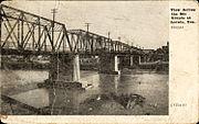 View across the Rio Grande at Laredo, Texas