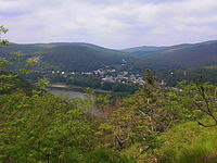 View of Shickshinny, Pennsylvania from the Mocanaqua Loop Trail.JPG