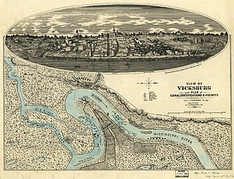 Vicksburg Campaign - View of Vicksburg vicinity and fortifications, 1863
