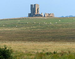 View towards the ruined St James Church at Bawsey (geograph 4255210).jpg