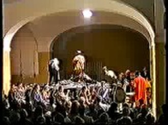 Der Kaiser von Atlantis - A scene from the first performance at Terezin, where the opera was composed in the concentration camp in 1934, performed on 23 May 1995