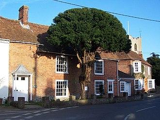 Broughton, Hampshire - Image: Village scene Broughton