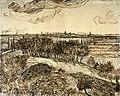 Vincent van Gogh - Utsikt mot Arles fra Montmajour - View of Arles from Montmajour - Nasjonalmuseet - NG.K&H.B.00068.jpg