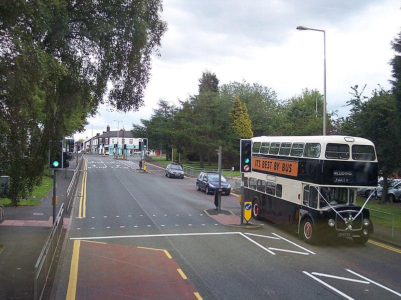 File:Vintage bus on Mealhouse Lane Atherton - geograph.org.uk - 2476505.jpg