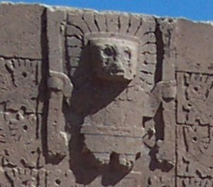 Religion in the Inca Empire - Viracocha depicted in the wall as a man