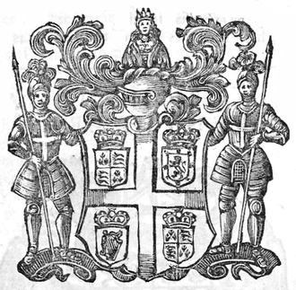 Virginia Company -  Arms of Virginia Company, as depicted in John Stow's Survey of London (1632)