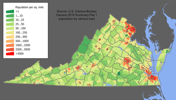 Virginia population map.png