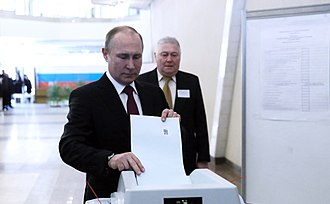 Vladimir Putin 2018 presidential campaign - Vladimir Putin voted in the election.