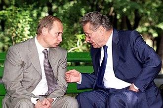 Petru Lucinschi - Vladimir Putin and Petru Lucinschi, Chișinău, 17 June 2000