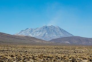 Ubinas volcano in Peru