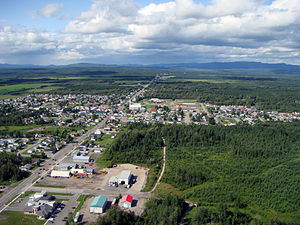 Saint-Honoré, Quebec - Image: Vue aérienne de Saint Honoré02