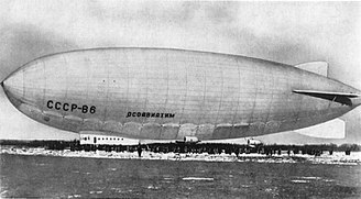 Soviet and Russian airships - The W6 Ossoawiachim built by Nobile was one of the largest Russian airships