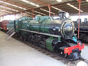 WAGR Pm and Pmr classes - Pm701 at the Western Australian Rail Transport Museum