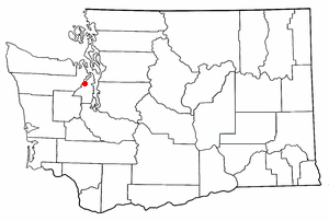 Bangor Base, Washington - Image: WA Map doton Bangor Trident Base