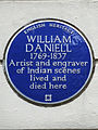 WILLIAM DANIELL 1769-1837 Artist and engraver of Indian scenes lived and died here.jpg