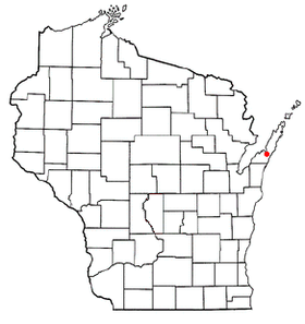 Location of Sturgeon Bay within Wisconsin.