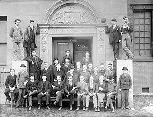 Washington University School of Dental Medicine - 1893 Freshmen class at the newly merged Dental Department of Washington University