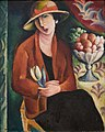 Wacław Wąsowicz - Portret damy z tulipanem.jpg